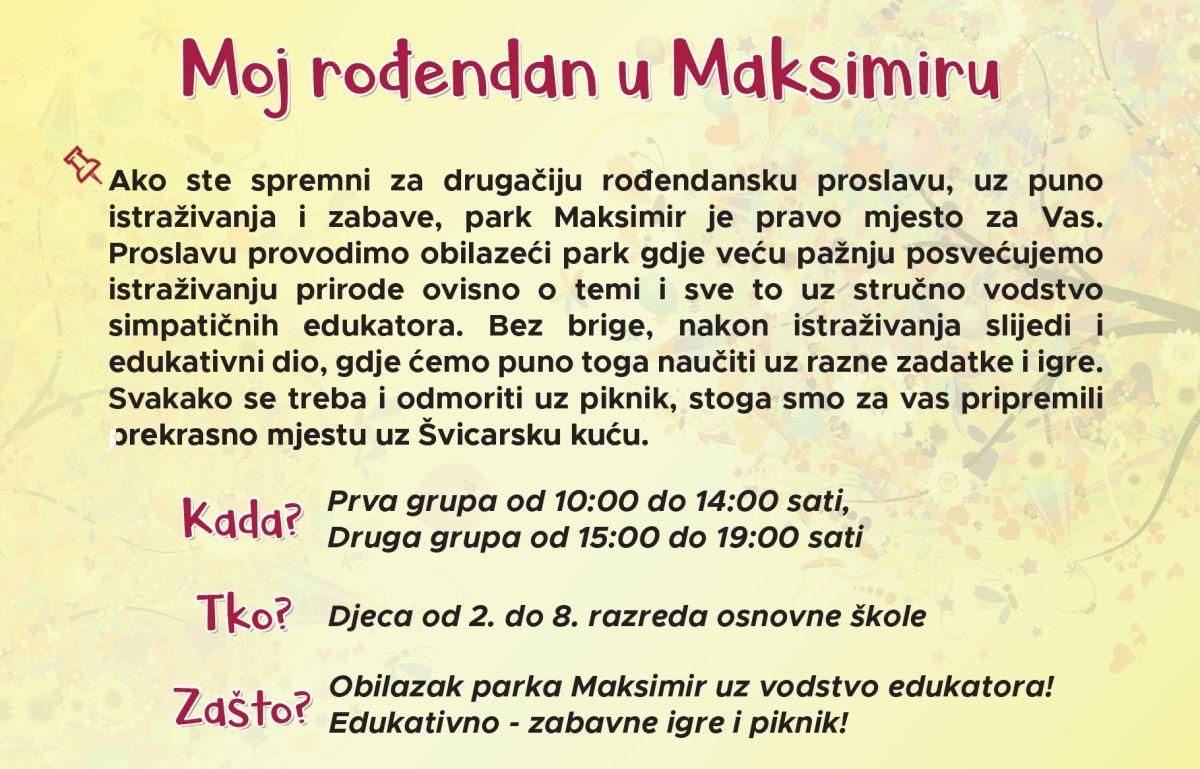 Proslavi rođendan u parku Maksimir!
